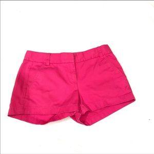 J. Crew Cotton broken in chino pink shorts